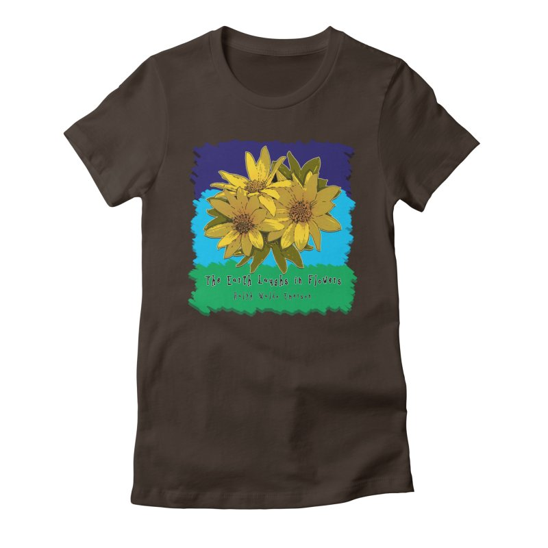 Laughing Earth Flowers Women's Fitted T-Shirt by Spiral Saint - Artist Shop