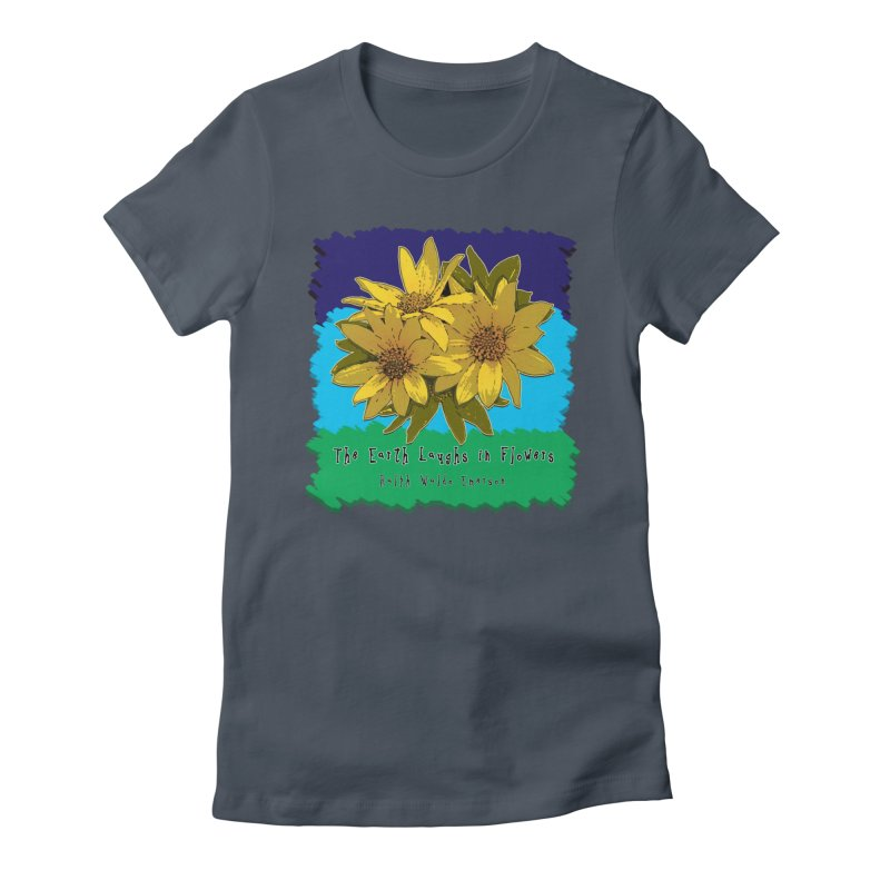 Laughing Earth Flowers Women's T-Shirt by Spiral Saint - Artist Shop