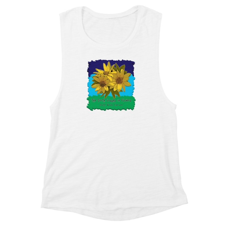 Laughing Earth Flowers Women's Muscle Tank by Spiral Saint - Artist Shop