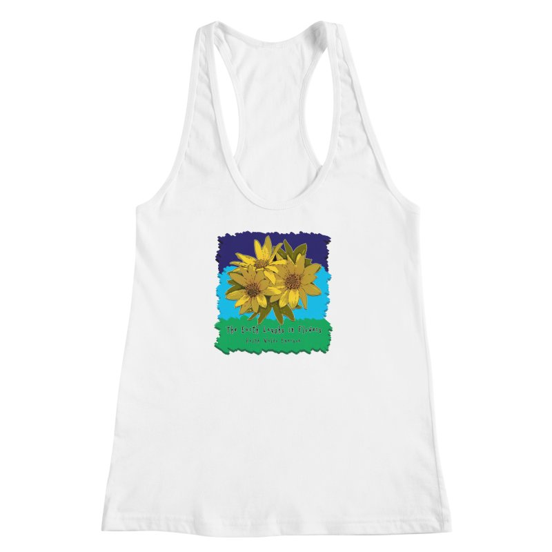 Laughing Earth Flowers Women's Racerback Tank by Spiral Saint - Artist Shop