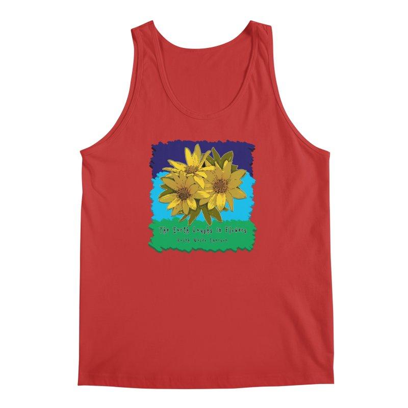 Laughing Earth Flowers Men's Regular Tank by Spiral Saint - Artist Shop
