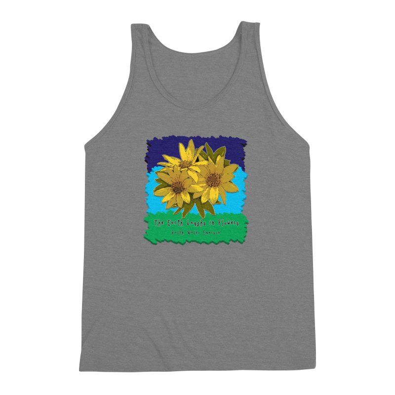 Laughing Earth Flowers Men's Triblend Tank by Spiral Saint - Artist Shop