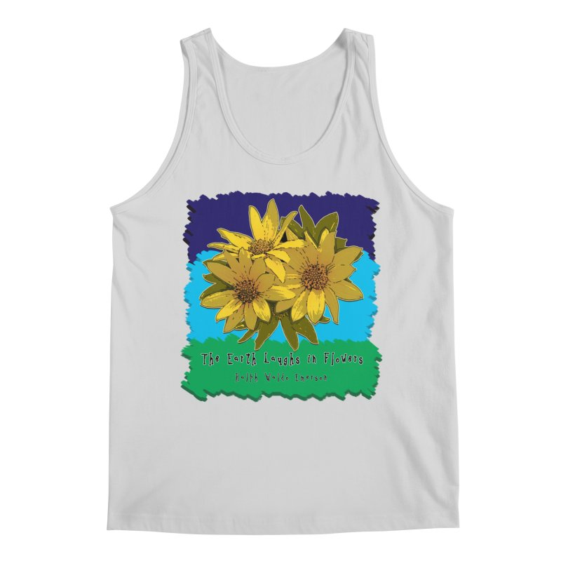 Laughing Earth Flowers Men's Regular Tank by Spiral Saint - Artist Shop