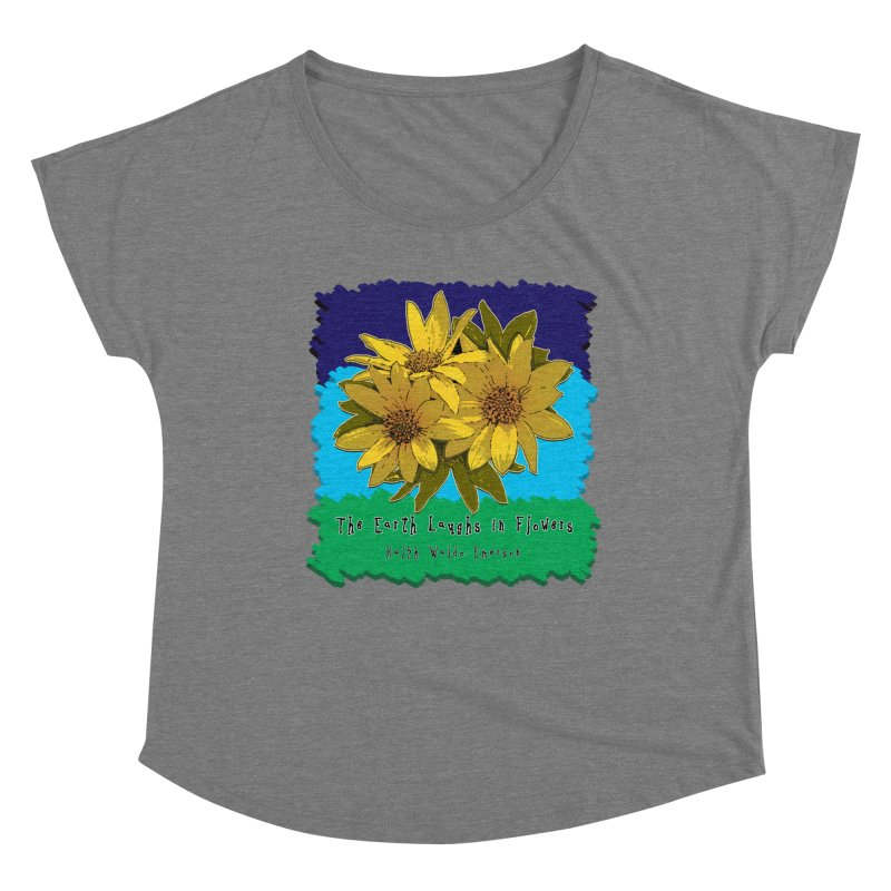 Laughing Earth Flowers Women's Scoop Neck by Spiral Saint - Artist Shop
