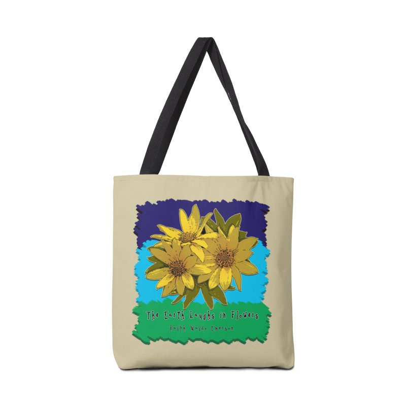 Laughing Earth Flowers Accessories Tote Bag Bag by Spiral Saint - Artist Shop
