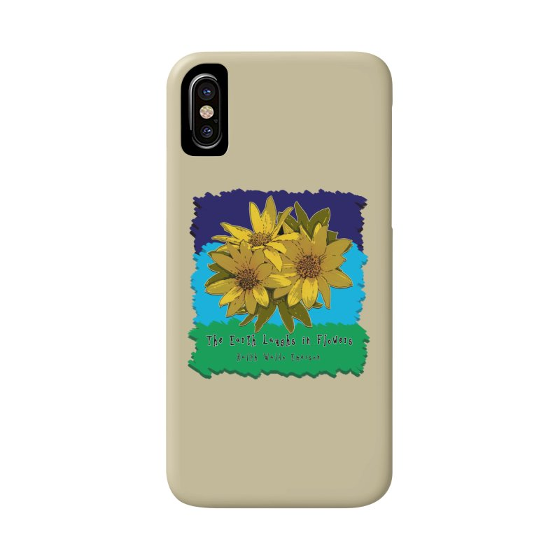 Laughing Earth Flowers Accessories Phone Case by Spiral Saint - Artist Shop