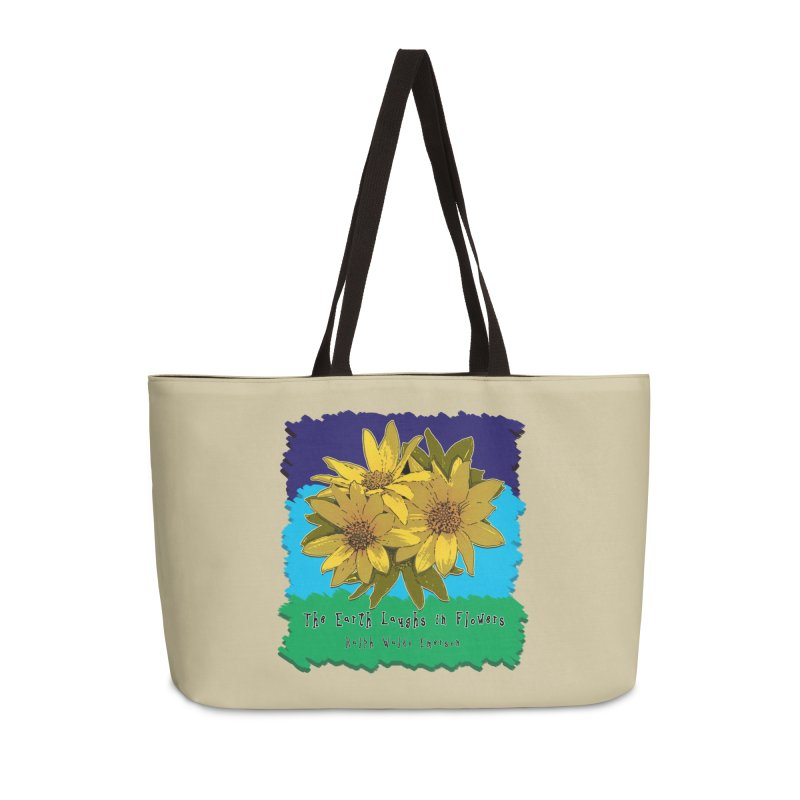 Laughing Earth Flowers Accessories Weekender Bag Bag by Spiral Saint - Artist Shop