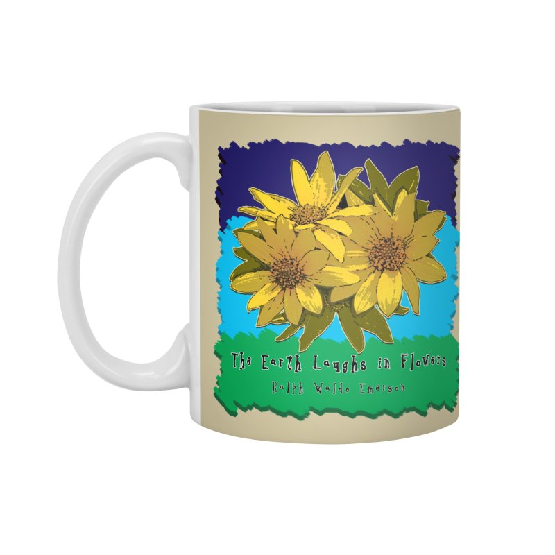 Laughing Earth Flowers Accessories Standard Mug by Spiral Saint - Artist Shop