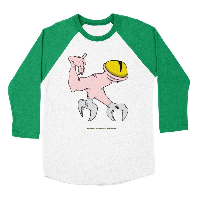 Wrench Feet Women's Baseball Triblend Longsleeve T-Shirt by Spiral Saint - Artist Shop