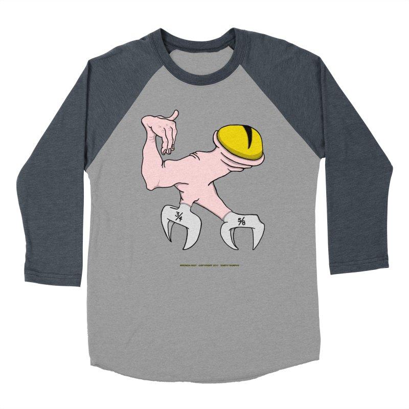 Wrench Feet Men's Baseball Triblend T-Shirt by Spiral Saint - Artist Shop