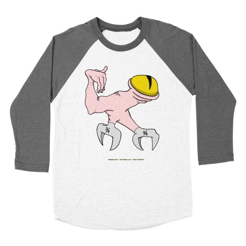 Wrench Feet Men's Baseball Triblend Longsleeve T-Shirt by Spiral Saint - Artist Shop