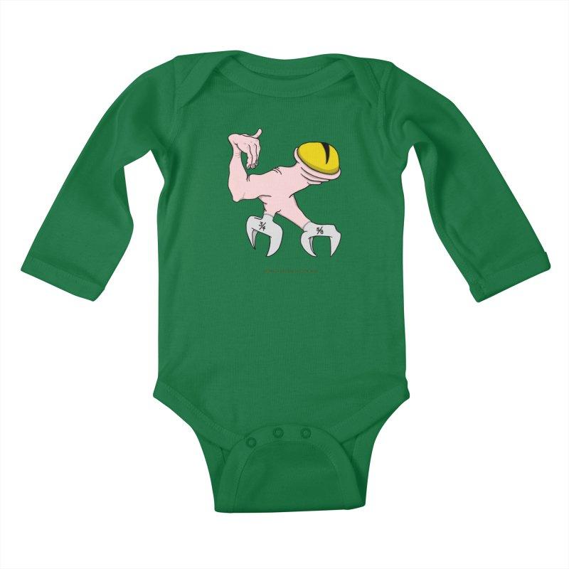 Wrench Feet Kids Baby Longsleeve Bodysuit by Spiral Saint - Artist Shop