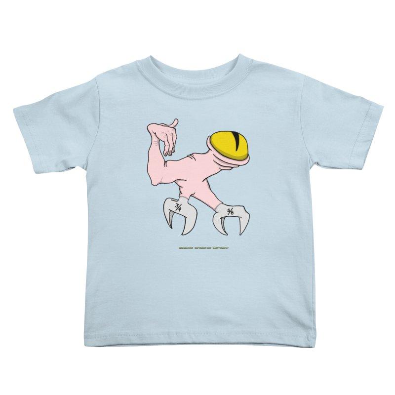 Wrench Feet Kids Toddler T-Shirt by Spiral Saint - Artist Shop