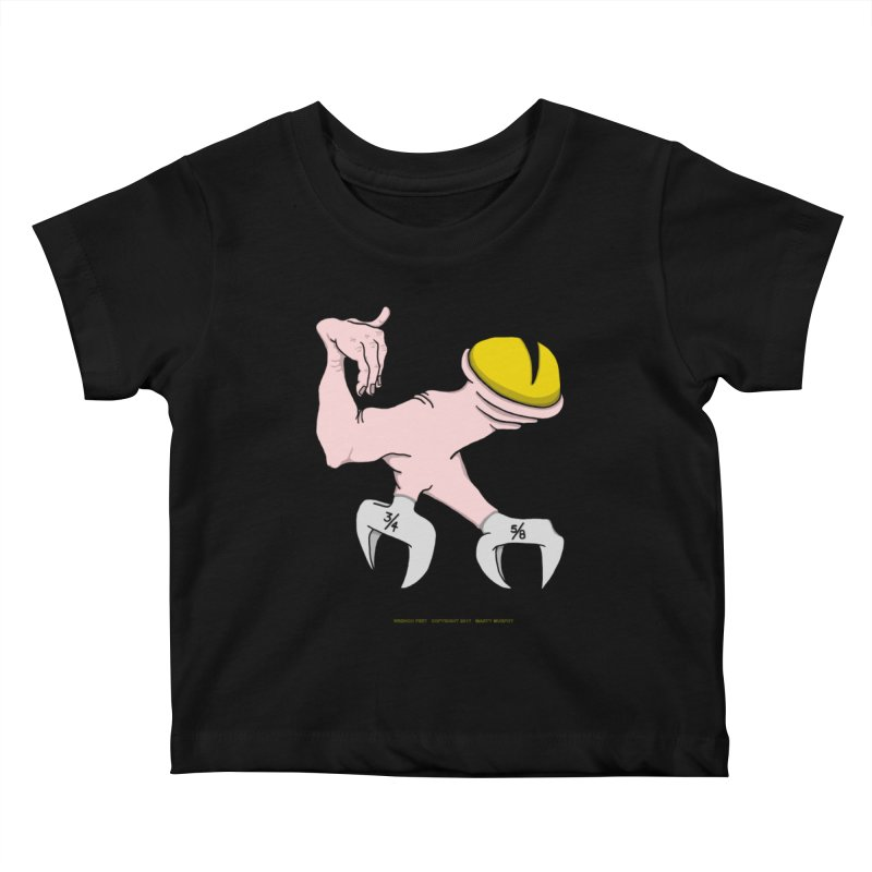 Wrench Feet Kids Baby T-Shirt by Spiral Saint - Artist Shop
