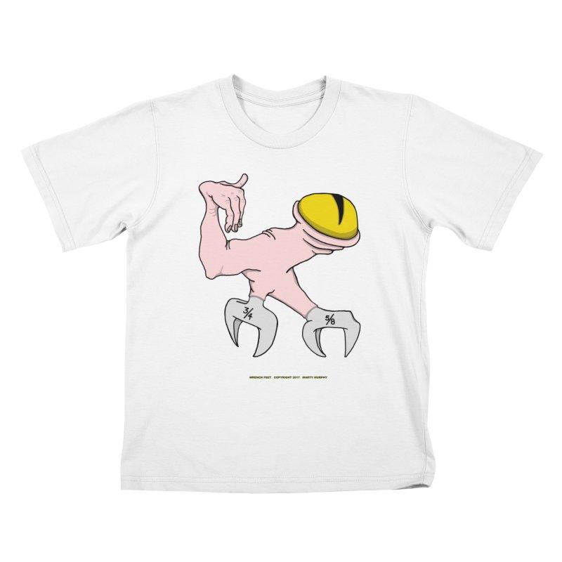 Wrench Feet Kids T-Shirt by Spiral Saint - Artist Shop