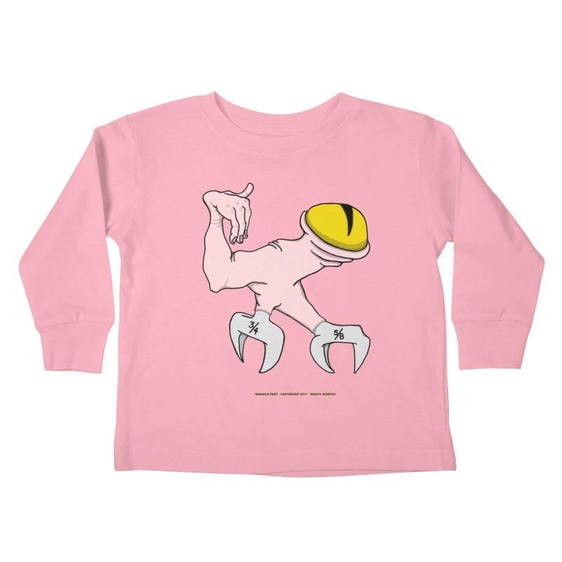 Wrench Feet Kids Toddler Longsleeve T-Shirt by Spiral Saint - Artist Shop