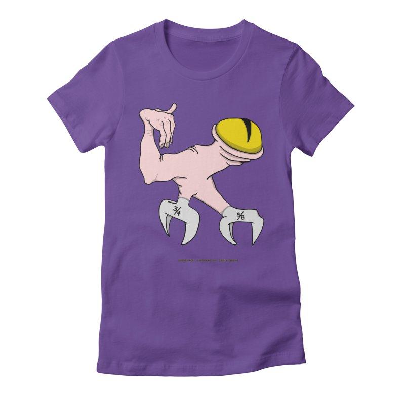 Wrench Feet Women's Fitted T-Shirt by Spiral Saint - Artist Shop