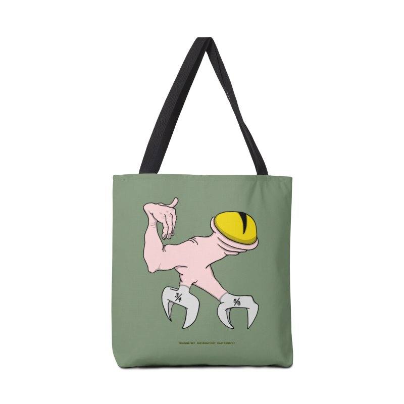 Wrench Feet Accessories Tote Bag Bag by Spiral Saint - Artist Shop