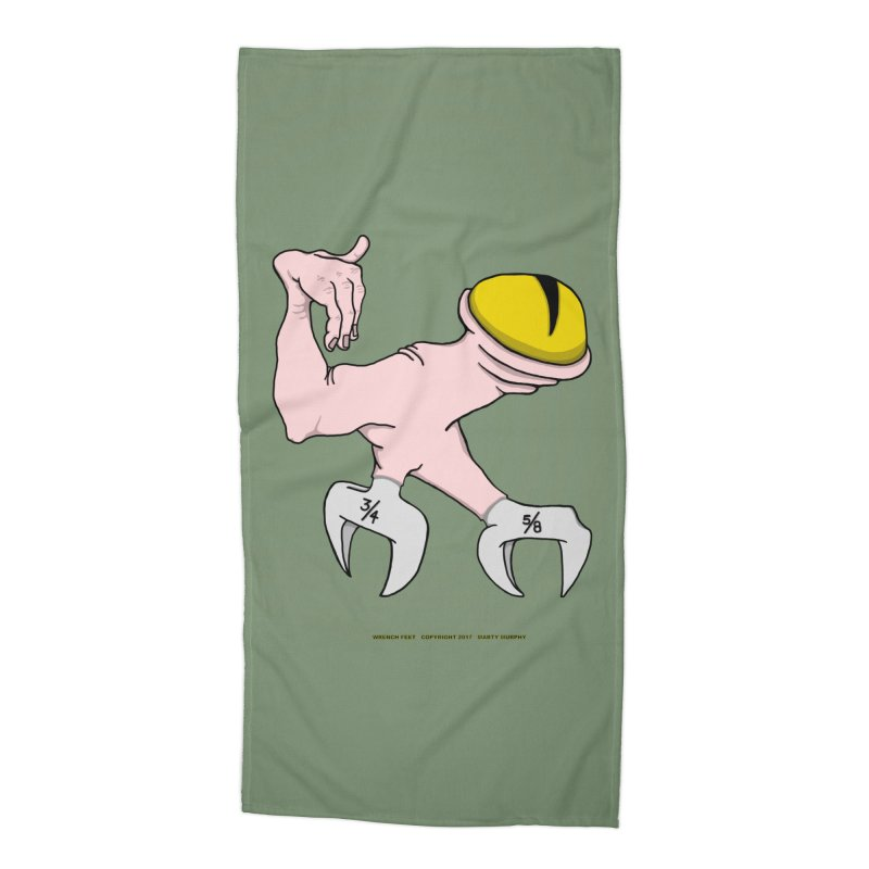 Wrench Feet Accessories Beach Towel by Spiral Saint - Artist Shop