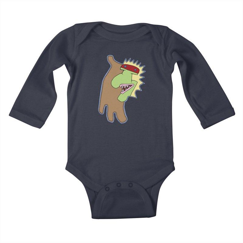 Glove Guy Kids Baby Longsleeve Bodysuit by Spiral Saint - Artist Shop