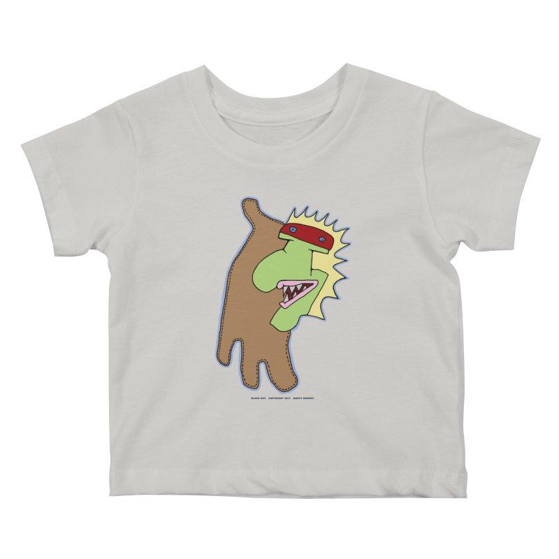Glove Guy Kids Baby T-Shirt by Spiral Saint - Artist Shop