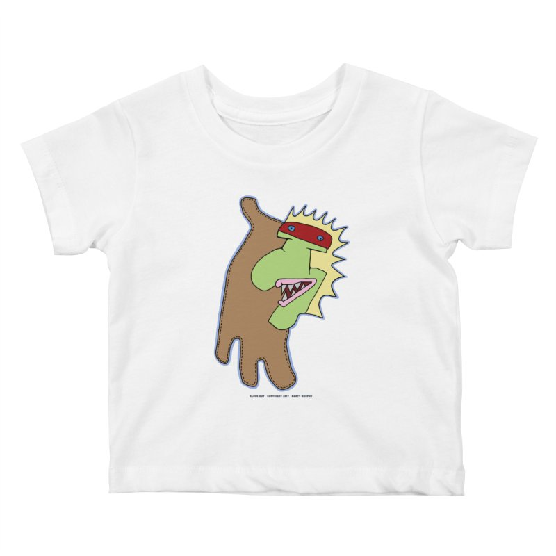 Glove Guy Kids Baby T-Shirt by Spiral Saint - Artist Shop