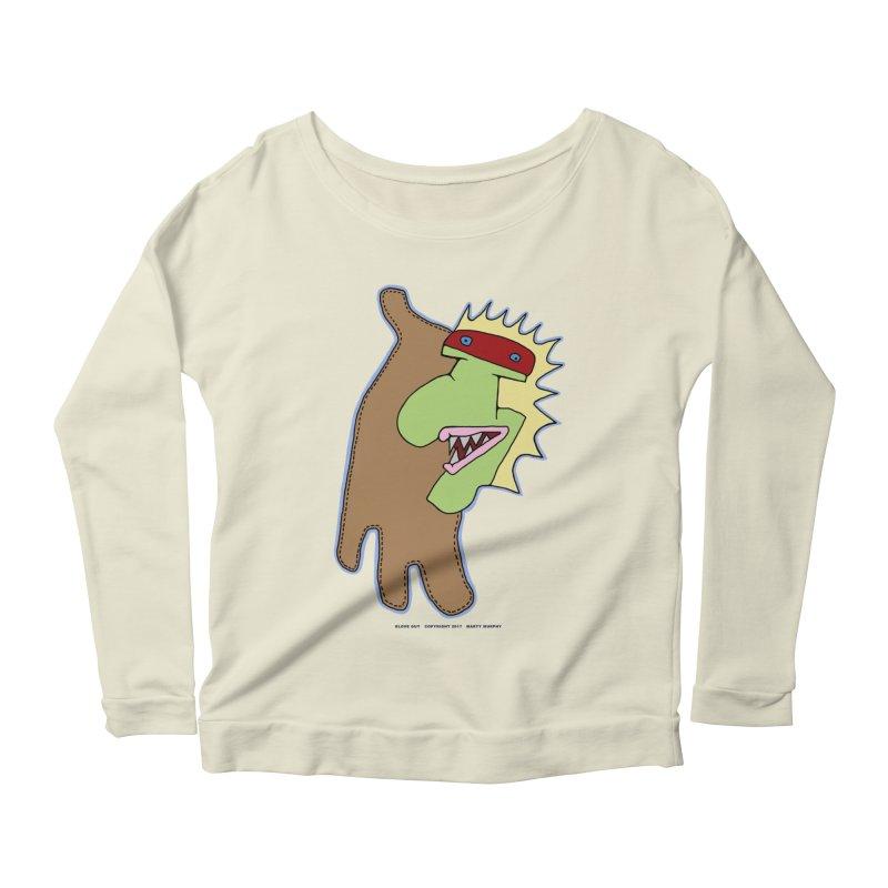 Glove Guy Women's Scoop Neck Longsleeve T-Shirt by Spiral Saint - Artist Shop