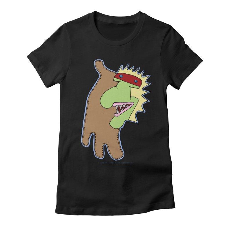 Glove Guy Women's Fitted T-Shirt by Spiral Saint - Artist Shop