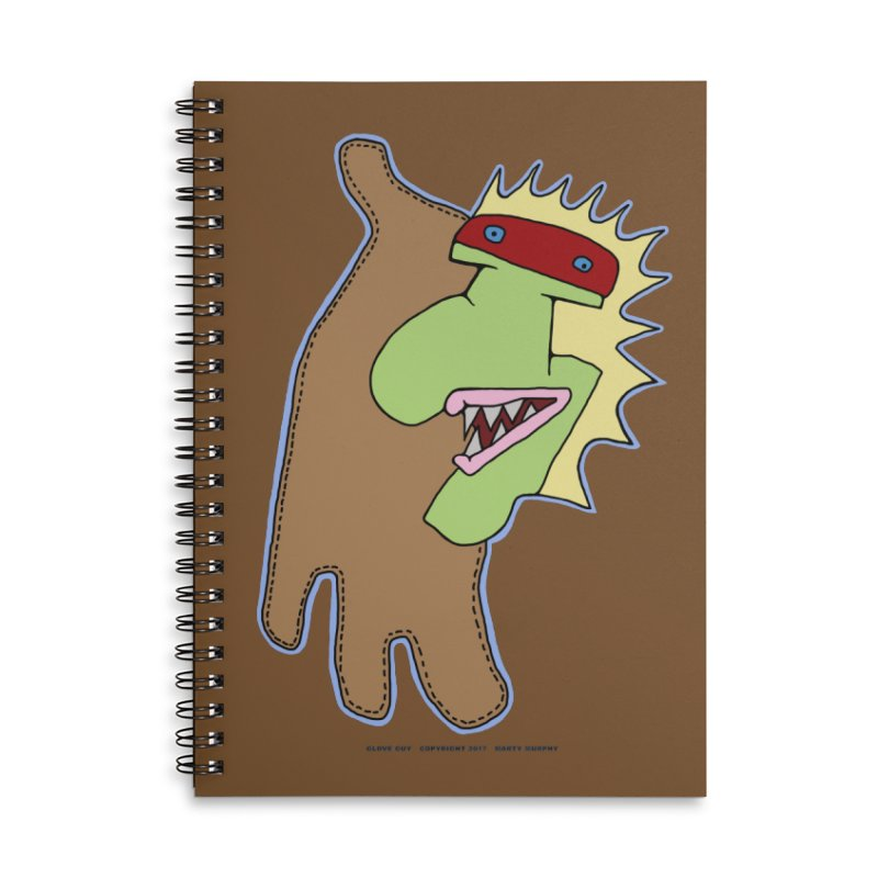 Glove Guy Accessories Lined Spiral Notebook by Spiral Saint - Artist Shop