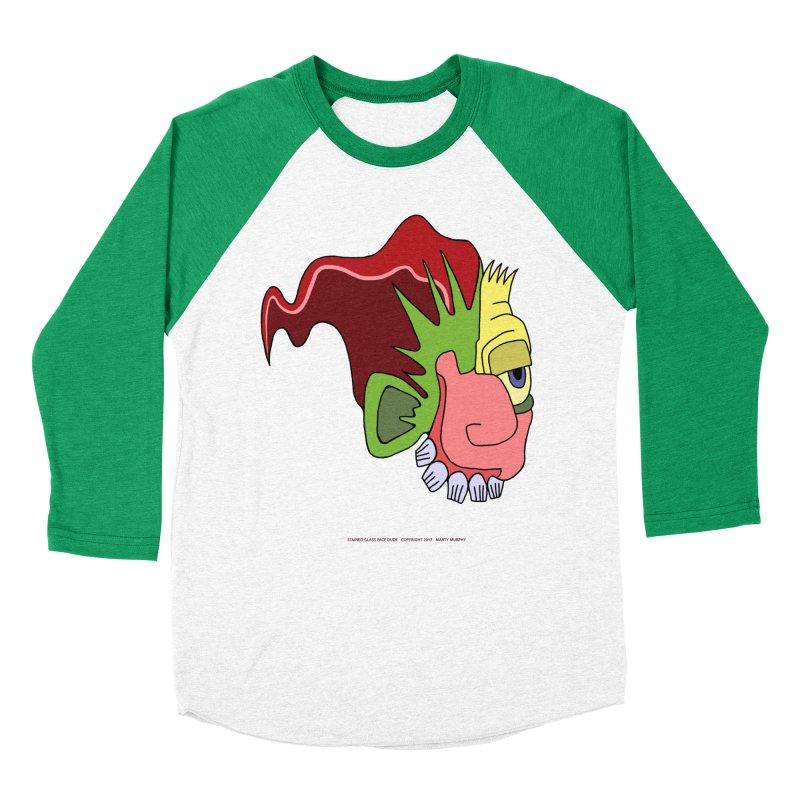 Stained Glass Guy Women's Baseball Triblend Longsleeve T-Shirt by Spiral Saint - Artist Shop
