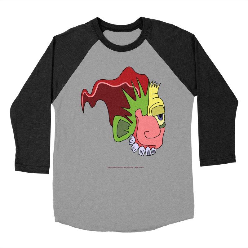 Stained Glass Guy Women's Baseball Triblend T-Shirt by Spiral Saint - Artist Shop