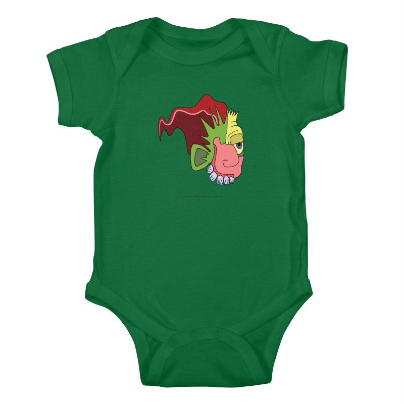 Stained Glass Guy Kids Baby Bodysuit by Spiral Saint - Artist Shop