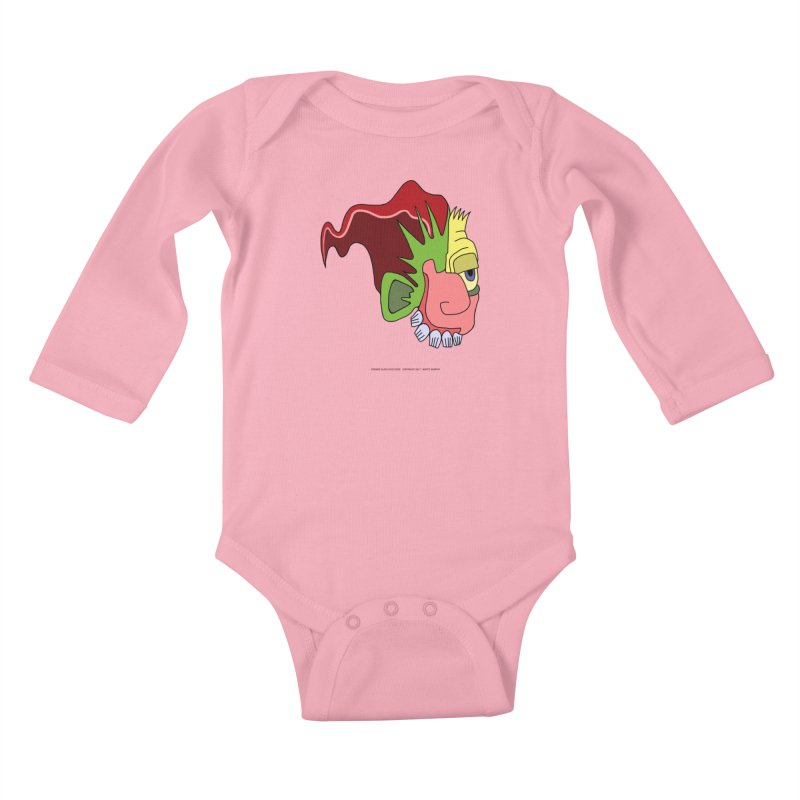 Stained Glass Guy Kids Baby Longsleeve Bodysuit by Spiral Saint - Artist Shop