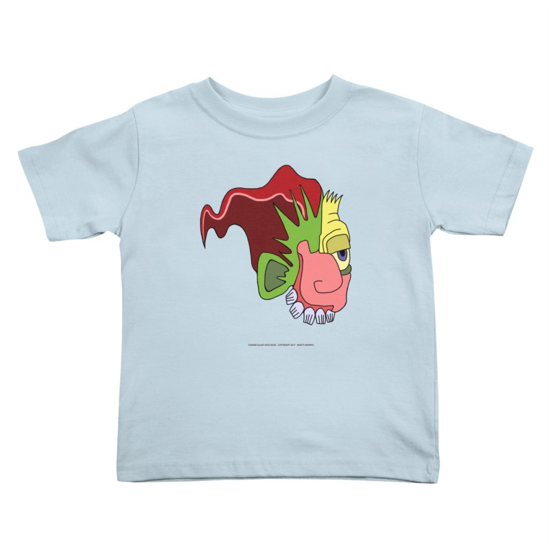 Stained Glass Guy Kids Toddler T-Shirt by Spiral Saint - Artist Shop
