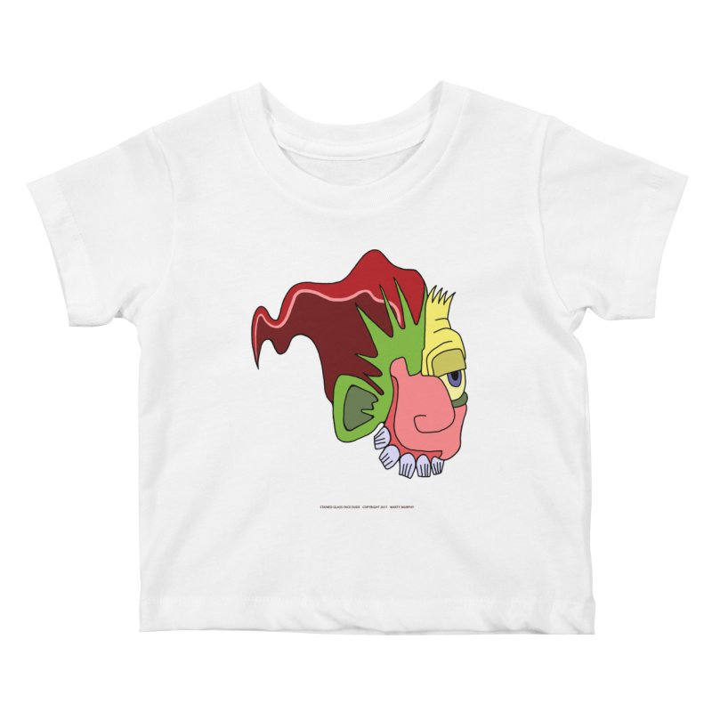 Stained Glass Guy Kids Baby T-Shirt by Spiral Saint - Artist Shop