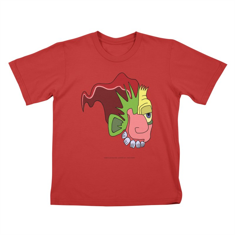 Stained Glass Guy Kids T-Shirt by Spiral Saint - Artist Shop