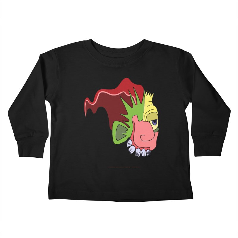 Stained Glass Guy Kids Toddler Longsleeve T-Shirt by Spiral Saint - Artist Shop