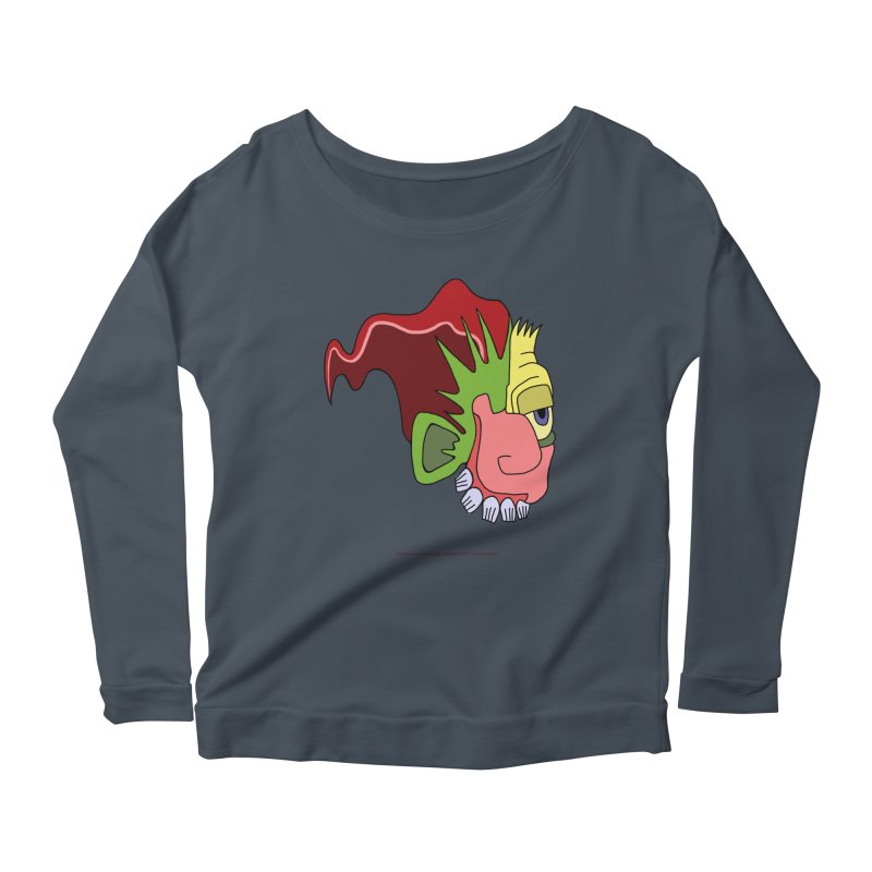 Stained Glass Guy Women's Scoop Neck Longsleeve T-Shirt by Spiral Saint - Artist Shop