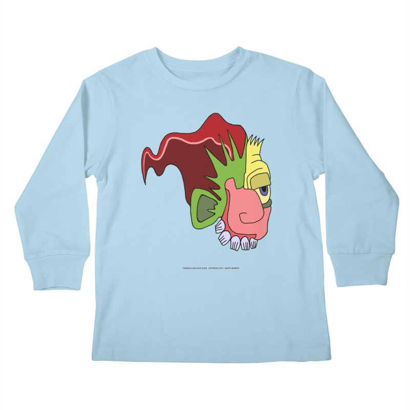 Stained Glass Guy Kids Longsleeve T-Shirt by Spiral Saint - Artist Shop