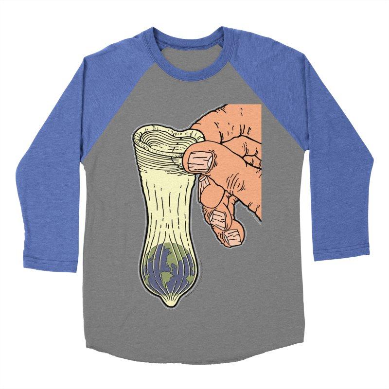 This Condom Earth Men's Baseball Triblend Longsleeve T-Shirt by Spiral Saint - Artist Shop