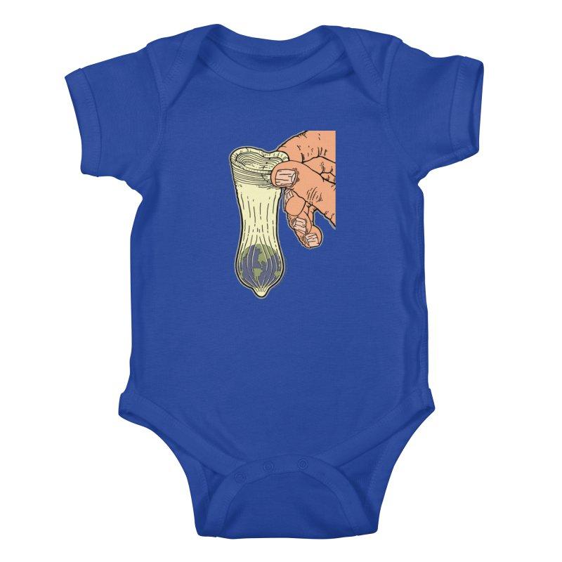 This Condom Earth Kids Baby Bodysuit by Spiral Saint - Artist Shop