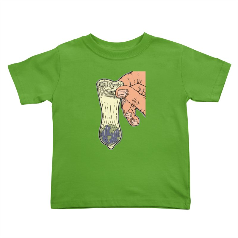 This Condom Earth Kids Toddler T-Shirt by Spiral Saint - Artist Shop