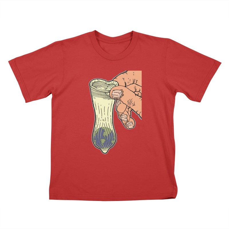 This Condom Earth Kids T-Shirt by Spiral Saint - Artist Shop