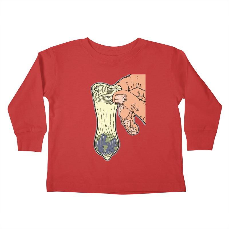 This Condom Earth Kids Toddler Longsleeve T-Shirt by Spiral Saint - Artist Shop