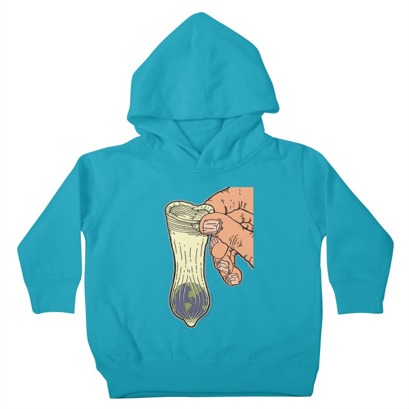 This Condom Earth Kids Toddler Pullover Hoody by Spiral Saint - Artist Shop