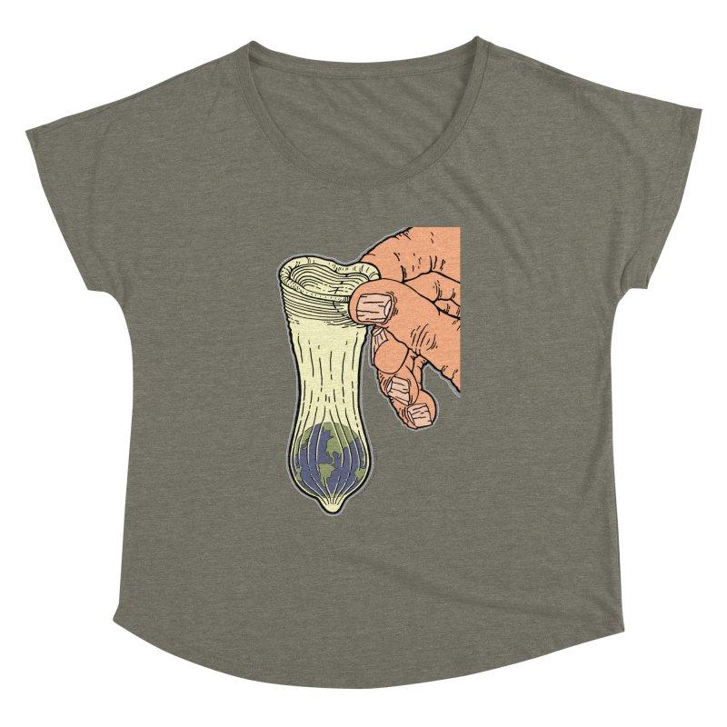 This Condom Earth Women's Dolman Scoop Neck by Spiral Saint - Artist Shop