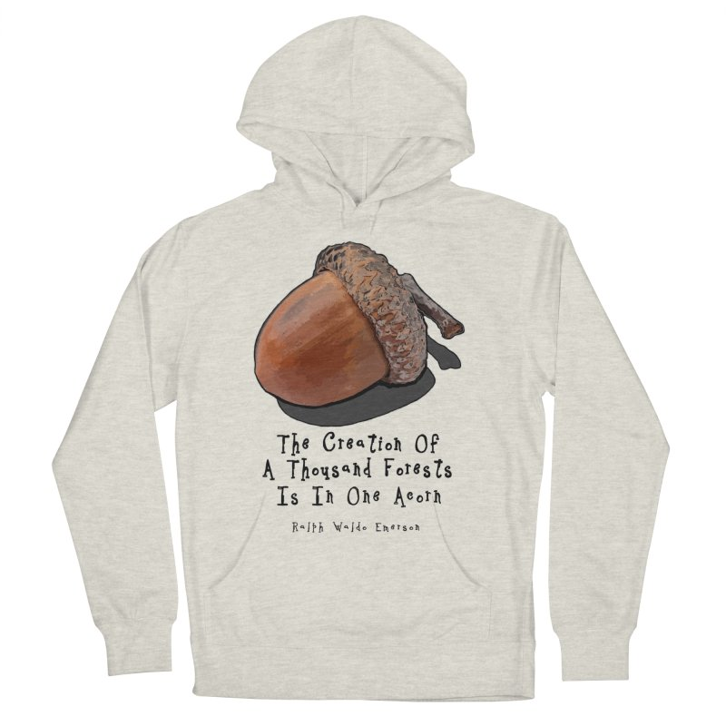 One Acorn Men's French Terry Pullover Hoody by Spiral Saint - Artist Shop