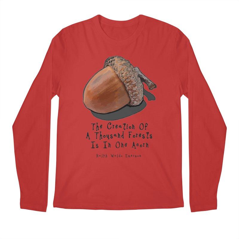 One Acorn Men's Longsleeve T-Shirt by Spiral Saint - Artist Shop