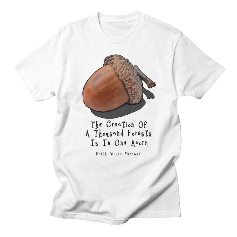 One Acorn Men's Regular T-Shirt by Spiral Saint - Artist Shop