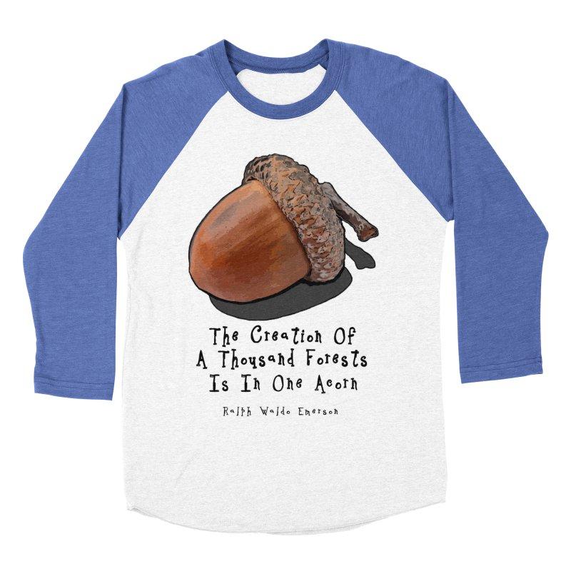 One Acorn Men's Baseball Triblend T-Shirt by Spiral Saint - Artist Shop